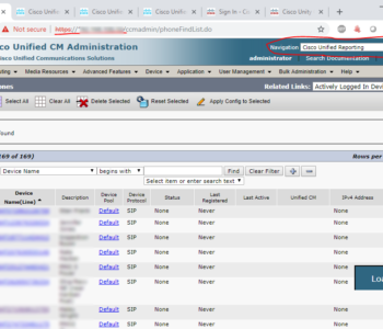 Cisco Unified Reporting (Phone Call Report) Cisco Reporting 1 350x300