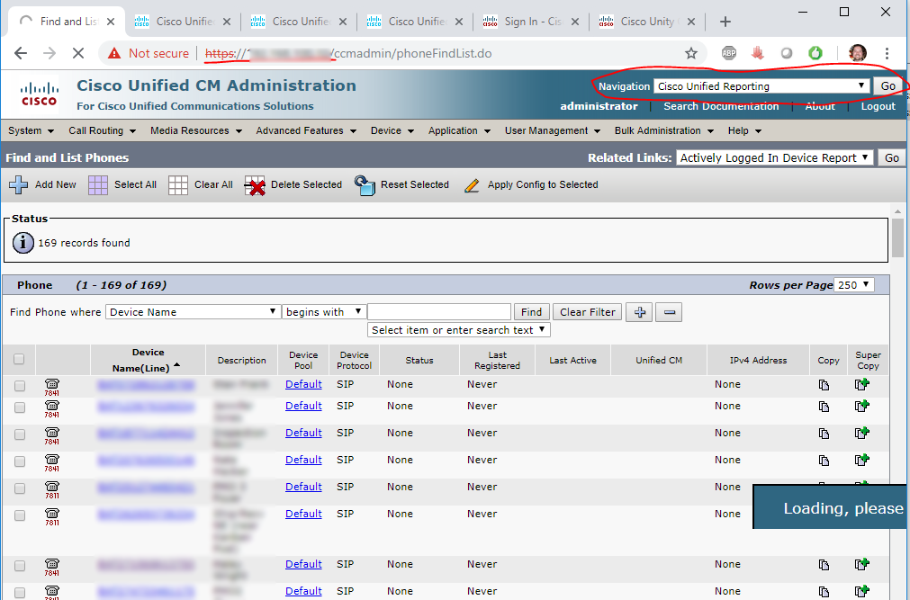 Cisco Unified Reporting (Phone Call Report) Cisco Reporting 1