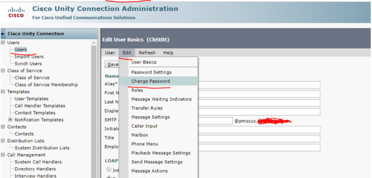 Change Voicemail PIN Cisco Unity 730x350